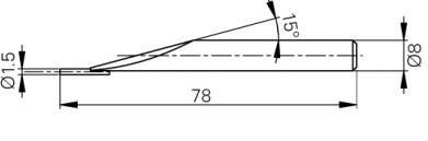 Mérőtapintó tüskével Ø1.5 mm, Hossz =78 mm