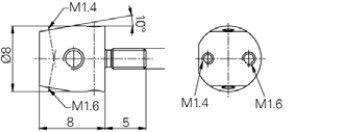 befogó Mérőtapintóhoz M2.5, M1.6, M1.4