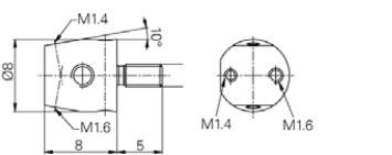 befogó Mérőtapintóhoz 4-48, M1.6, M1.4