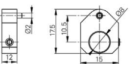 Pozícionáló befogó Mérőtapintóhoz Ø8 mm