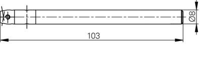 Mérőtapintó befogó M2.5, Hossz =103 mm