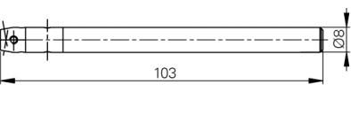 Mérőtapintó befogó 4-48, Hossz =103 mm