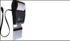 Hőnyomtató tartóval, töltővel és RS232 kábellel